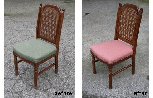 椅子貼り替え T邸